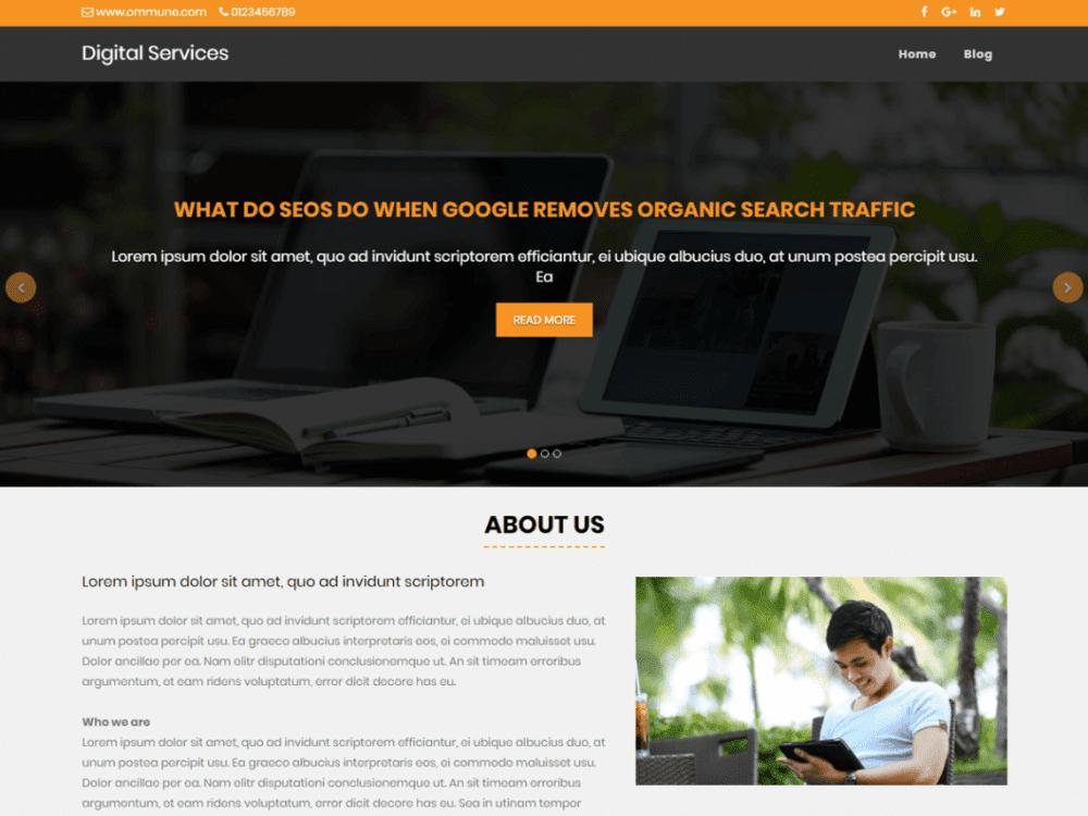 Free Digital Services WordPress theme