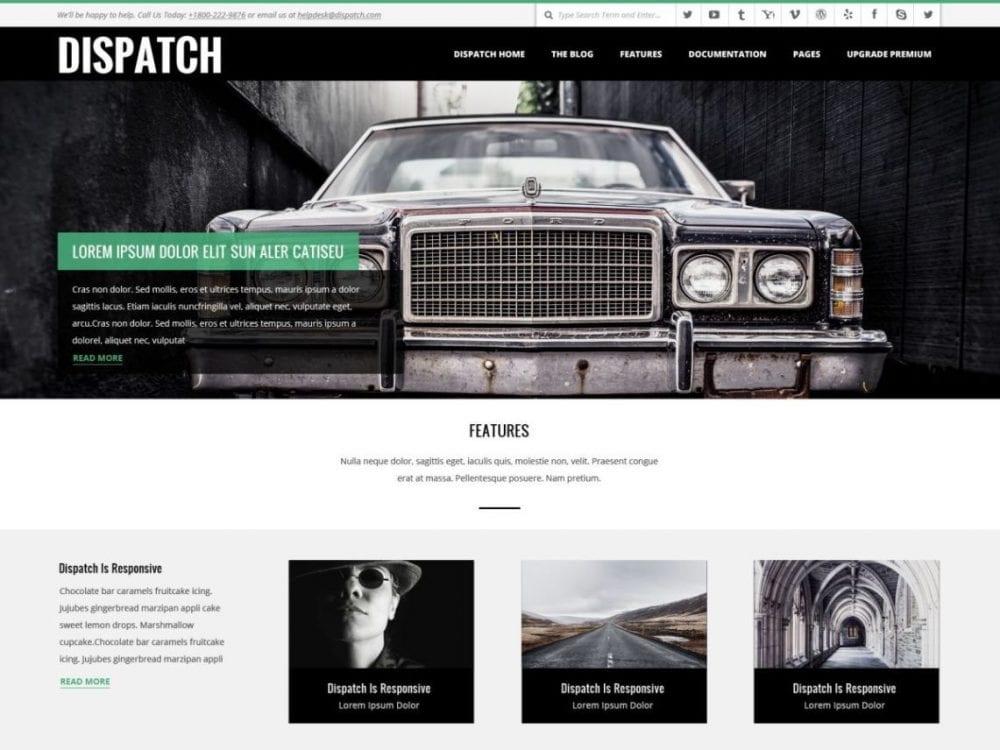 Free Dispatch WordPress theme