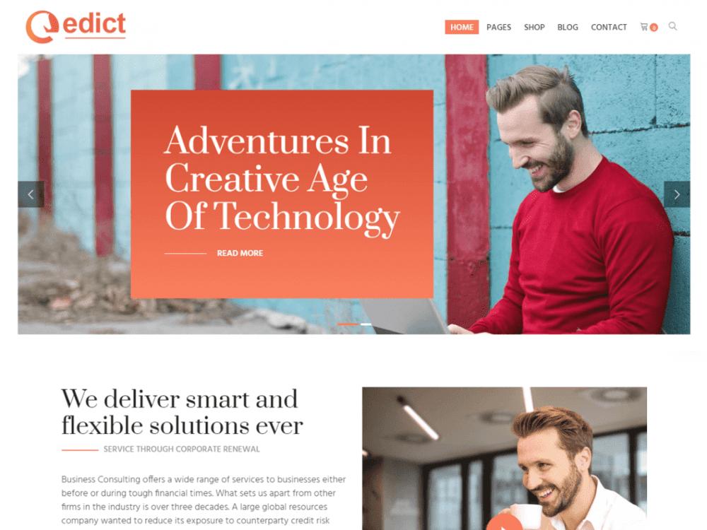 Free Edict Lite WordPress theme