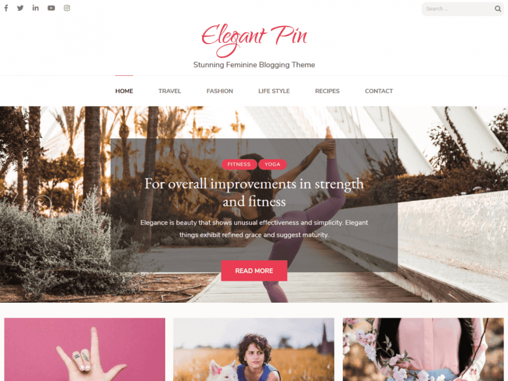 Free Elegant Pin WordPress theme