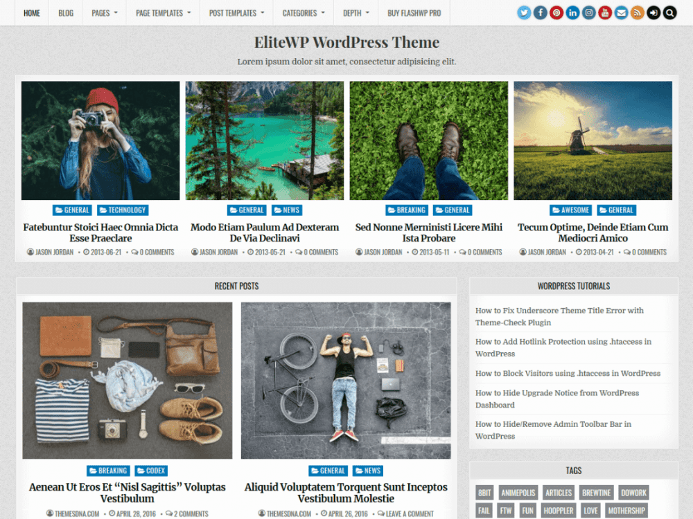 Free EliteWP WordPress theme