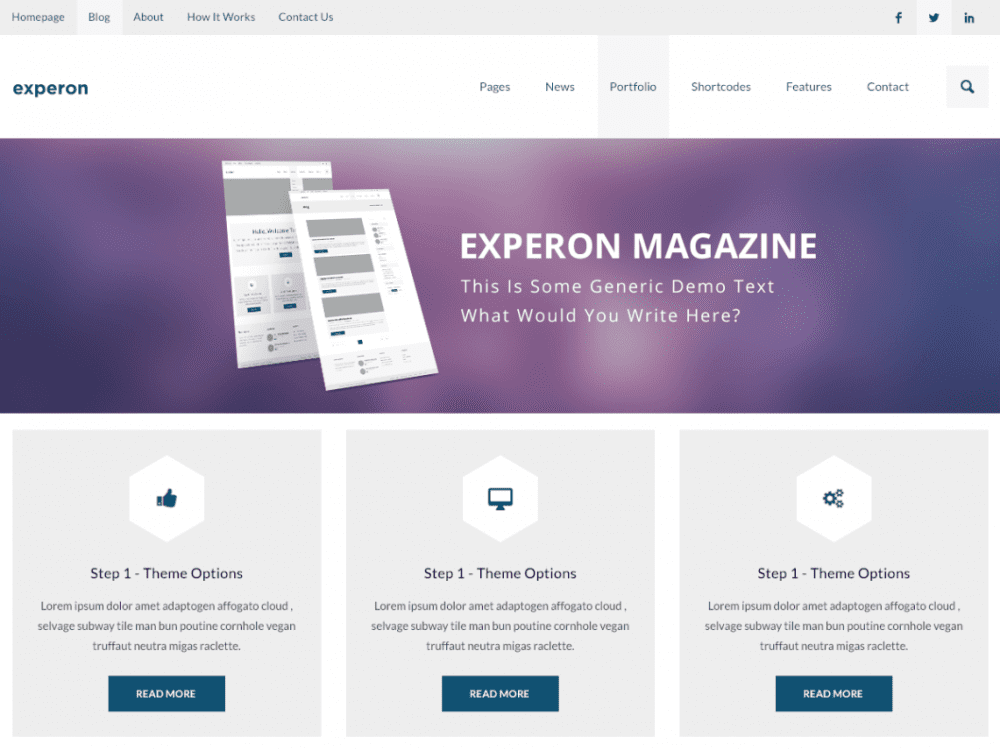 Free Experon Magazine WordPress theme