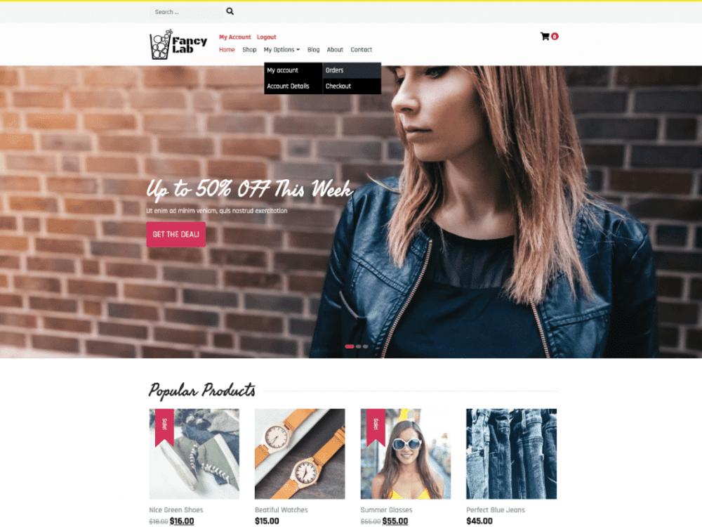 Free Fancy Lab WordPress theme