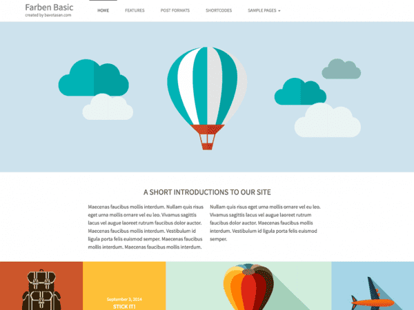 Free Farben Basic WordPress theme