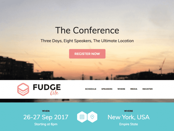 Free Fudge Lite WordPress theme