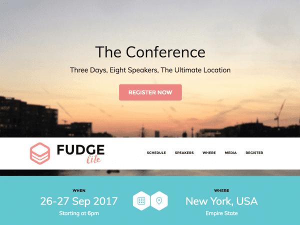 Free Fudge Lite WordPress theme