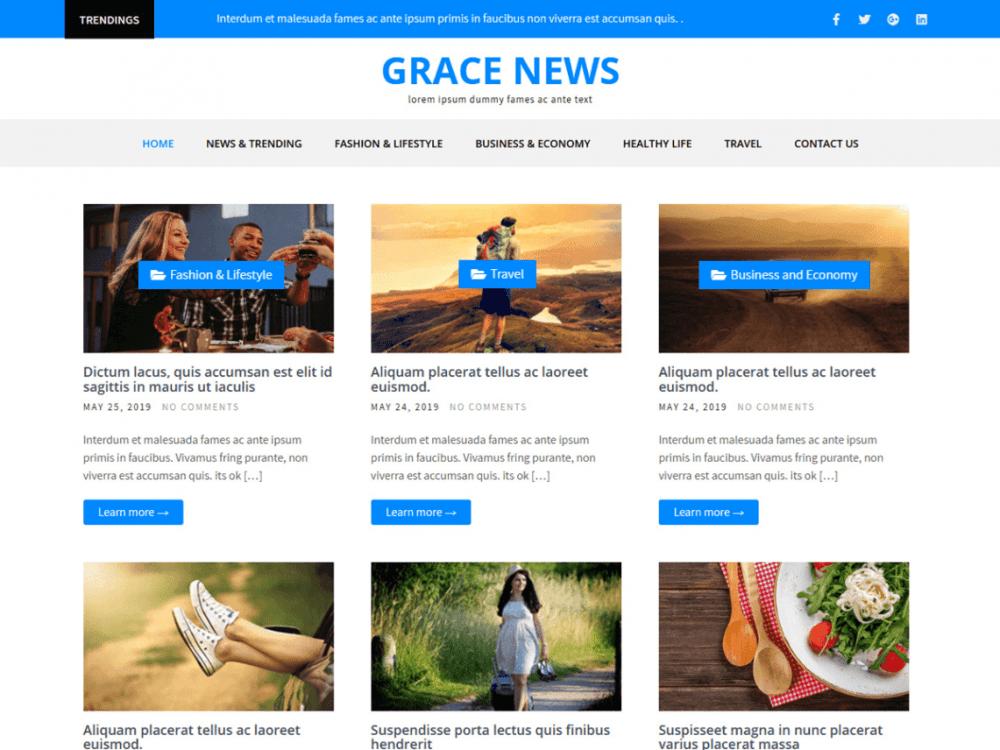 Free Grace News WordPress theme