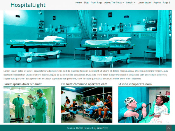 Free HospitalLight WordPress theme