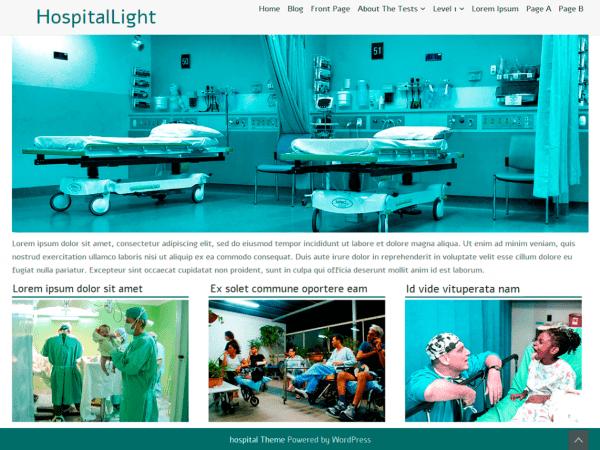 Free HospitalLight WordPress theme