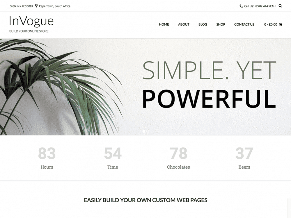 Free InVogue WordPress theme