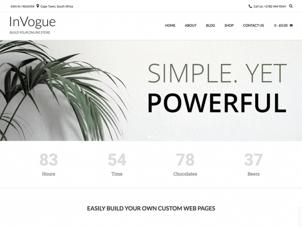 Free InVogue WordPress theme