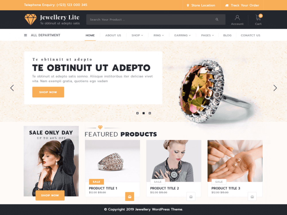 Download Free Jewellery Lite Wordpress Theme Justfreewpthemes