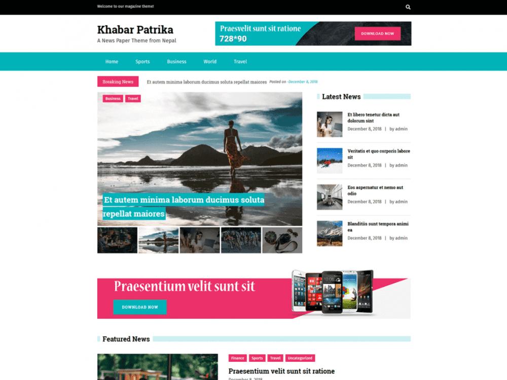 Free KhabarPatrika WordPress theme