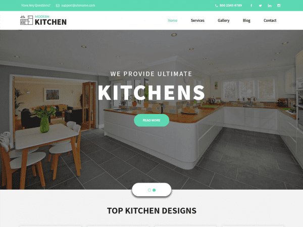 Free Kitchen Design WordPress theme