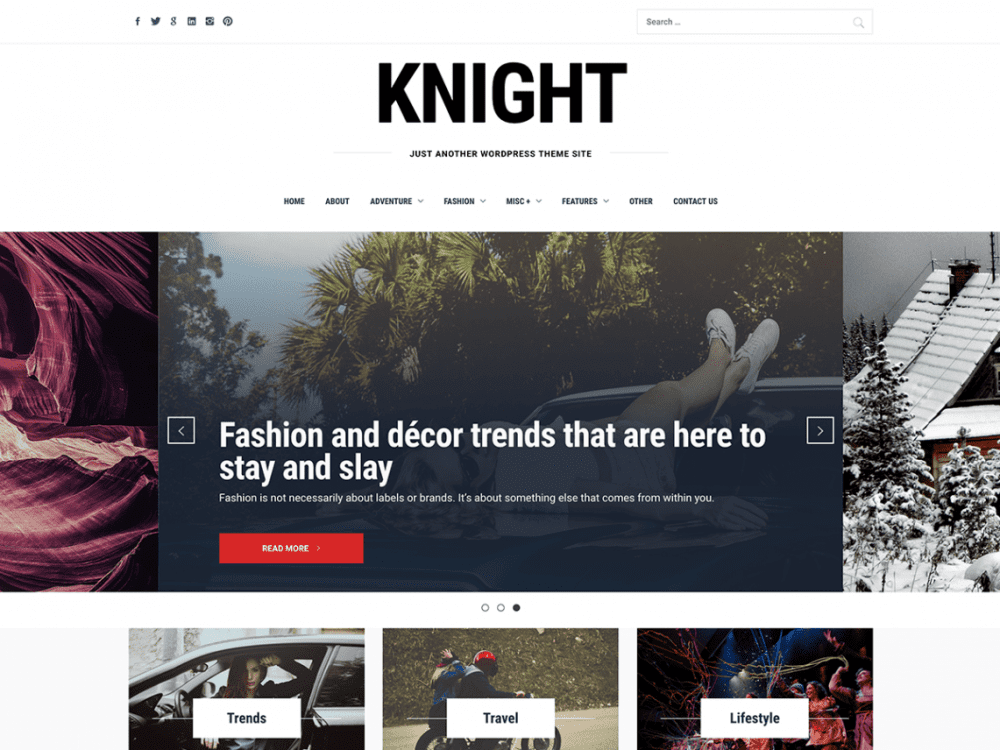 Free Knight WordPress theme