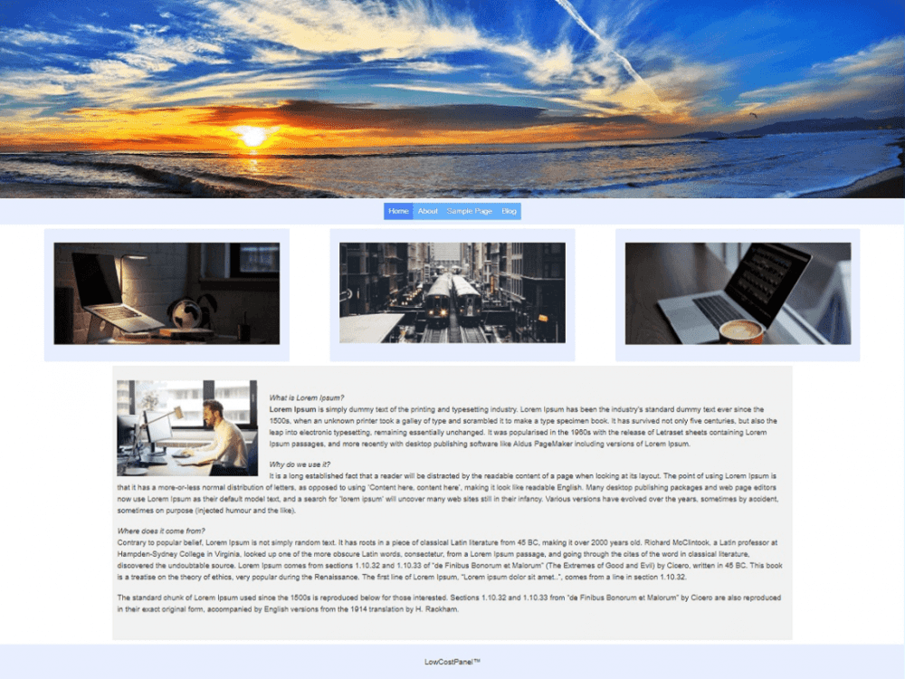 Free LCP Stretch WordPress theme