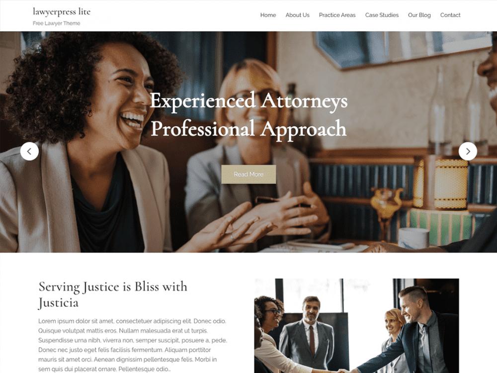 Free Lawyerpress Lite WordPress theme
