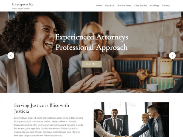 Free Lawyerpress Lite WordPress theme