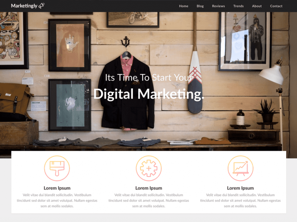 Free Marketingly WordPress theme