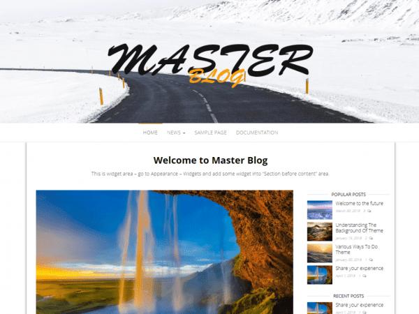Free Master Blog WordPress theme