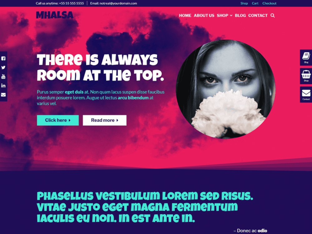 Free Mhalsa WordPress theme