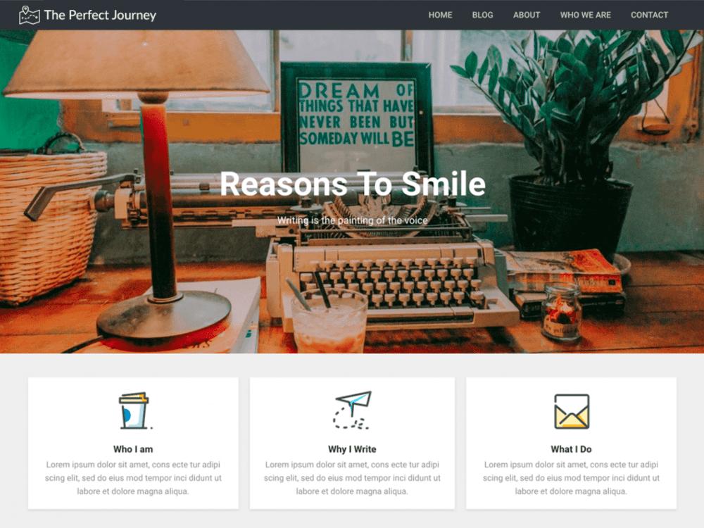 Free Modern Diary WordPress theme