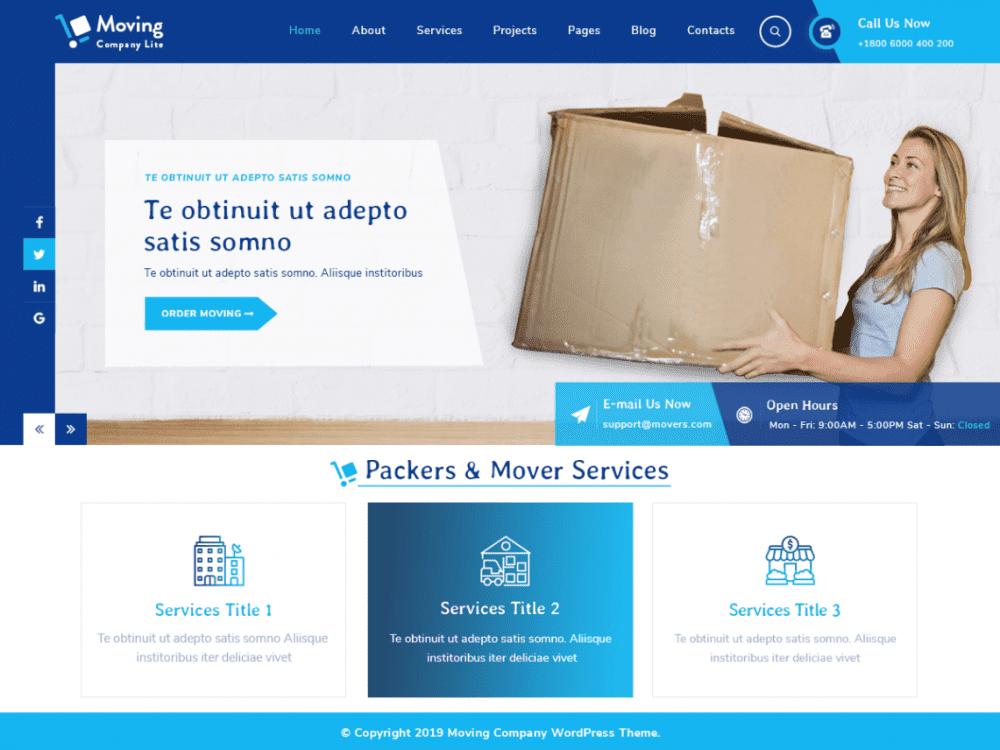 Free Moving Company Lite WordPress theme