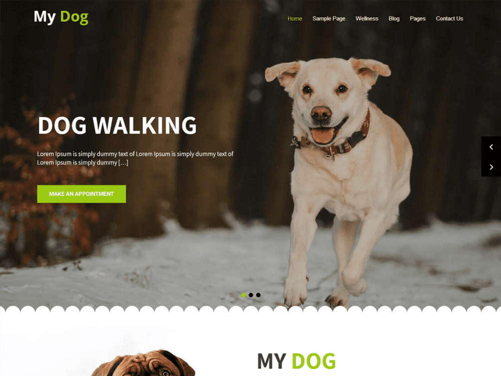 Free My Dog Lite WordPress theme