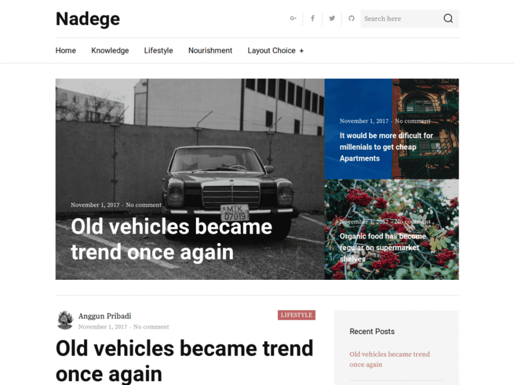 Free Nadege WordPress theme