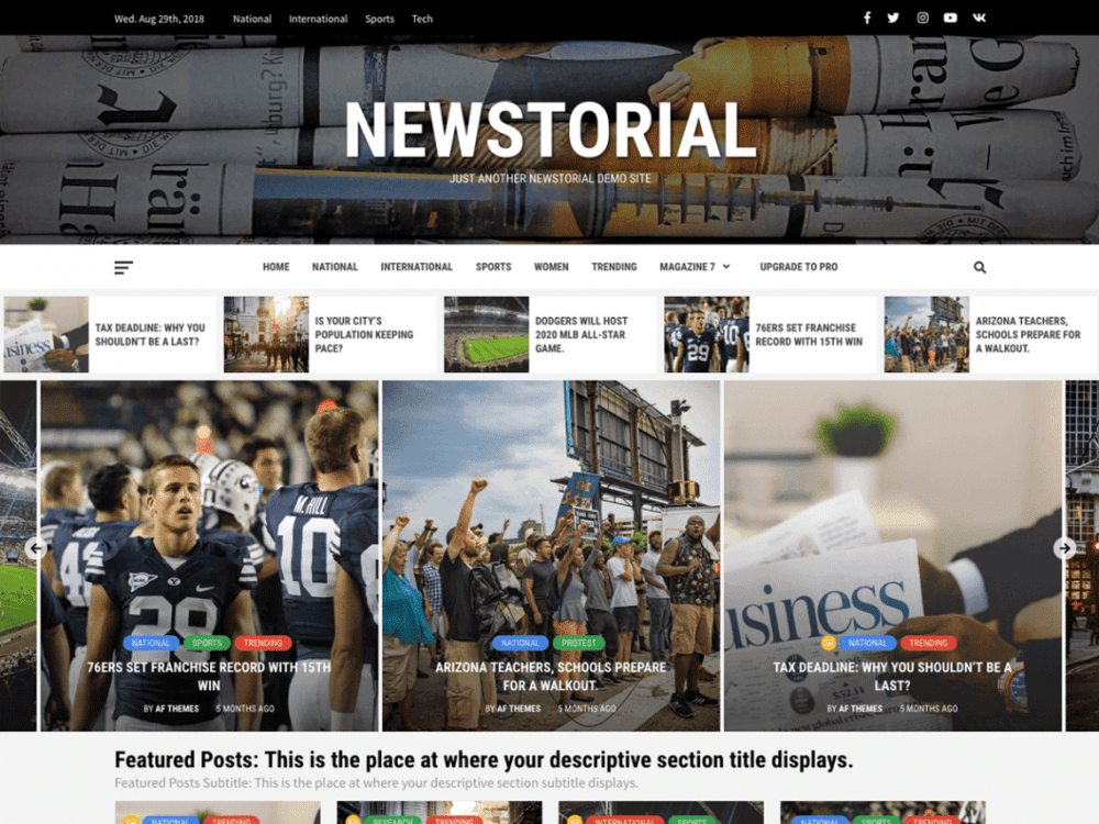 Free Newstorial WordPress theme