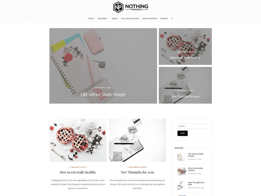 Free Nothing Personal WordPress theme