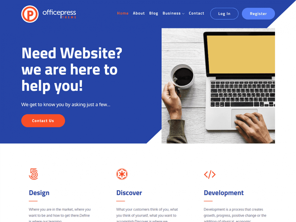 Free OfficePress WordPress theme