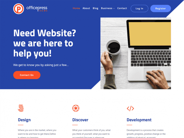 Free OfficePress WordPress theme