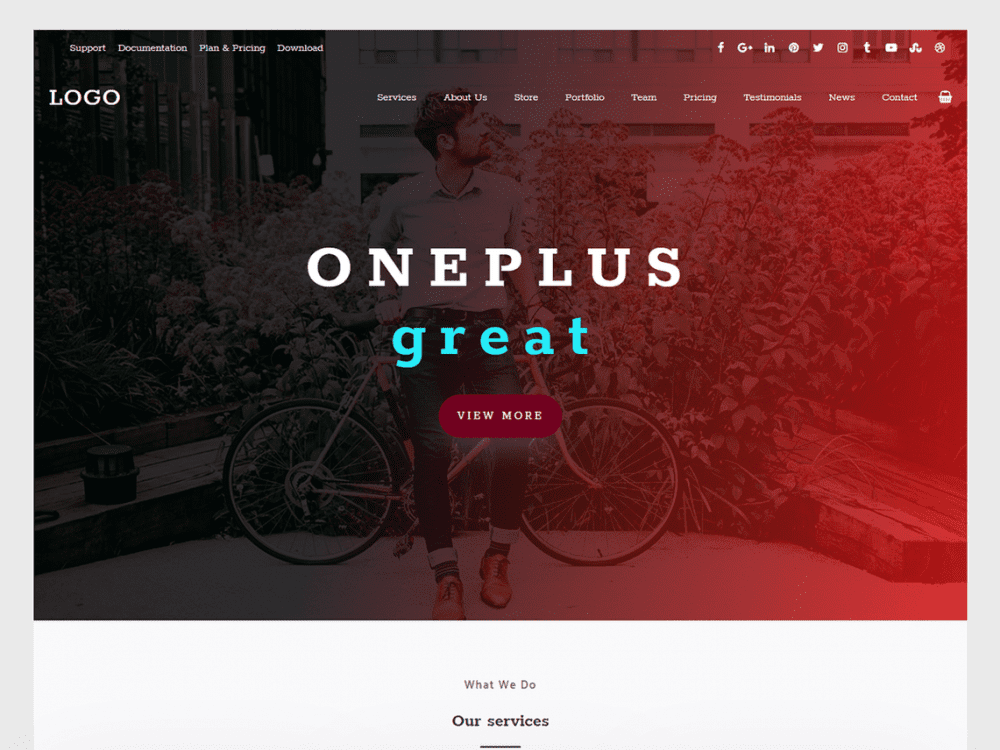 Free Oneplus WordPress theme