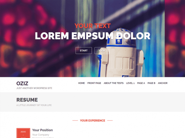 Free Oziz WordPress theme