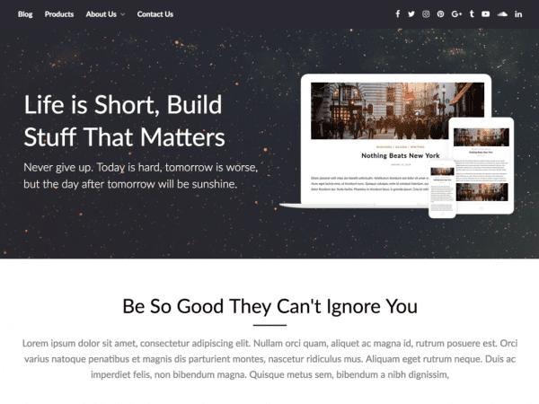 Free PageBuilderly WordPress theme