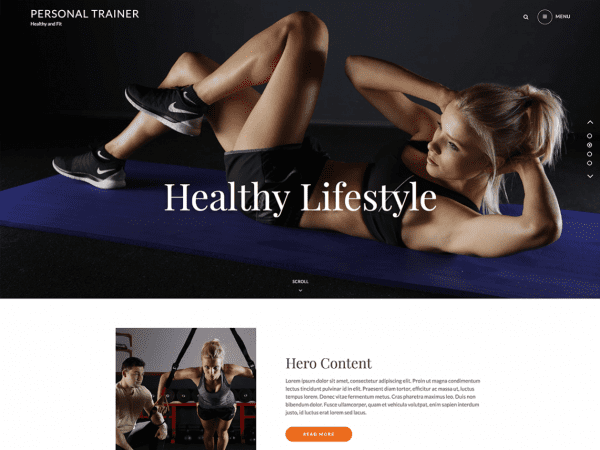 Free Personal Trainer WordPress theme