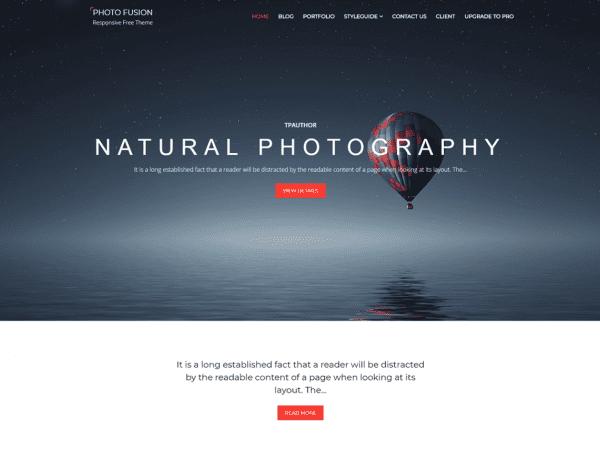 Free Photo Fusion WordPress theme