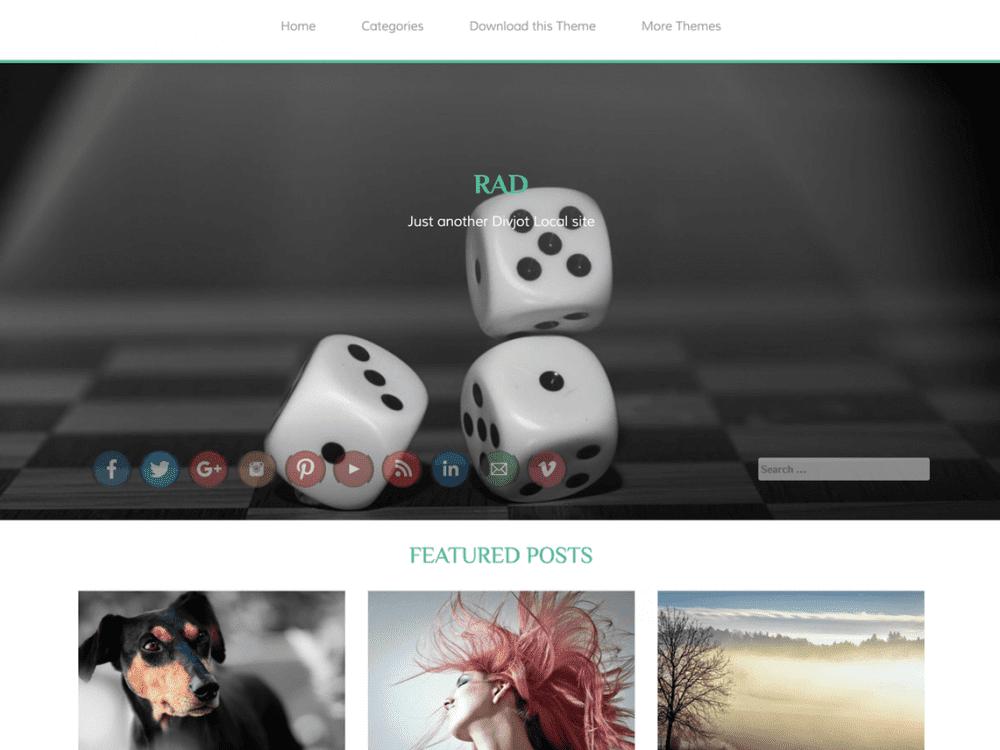 Free RAD WordPress theme