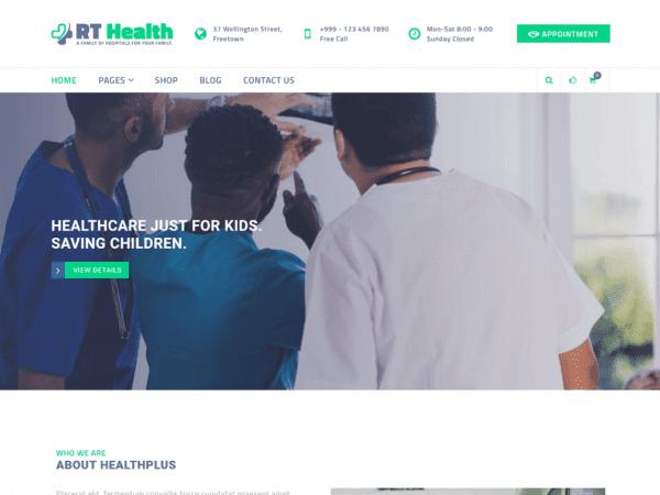 Free RT Health WordPress theme