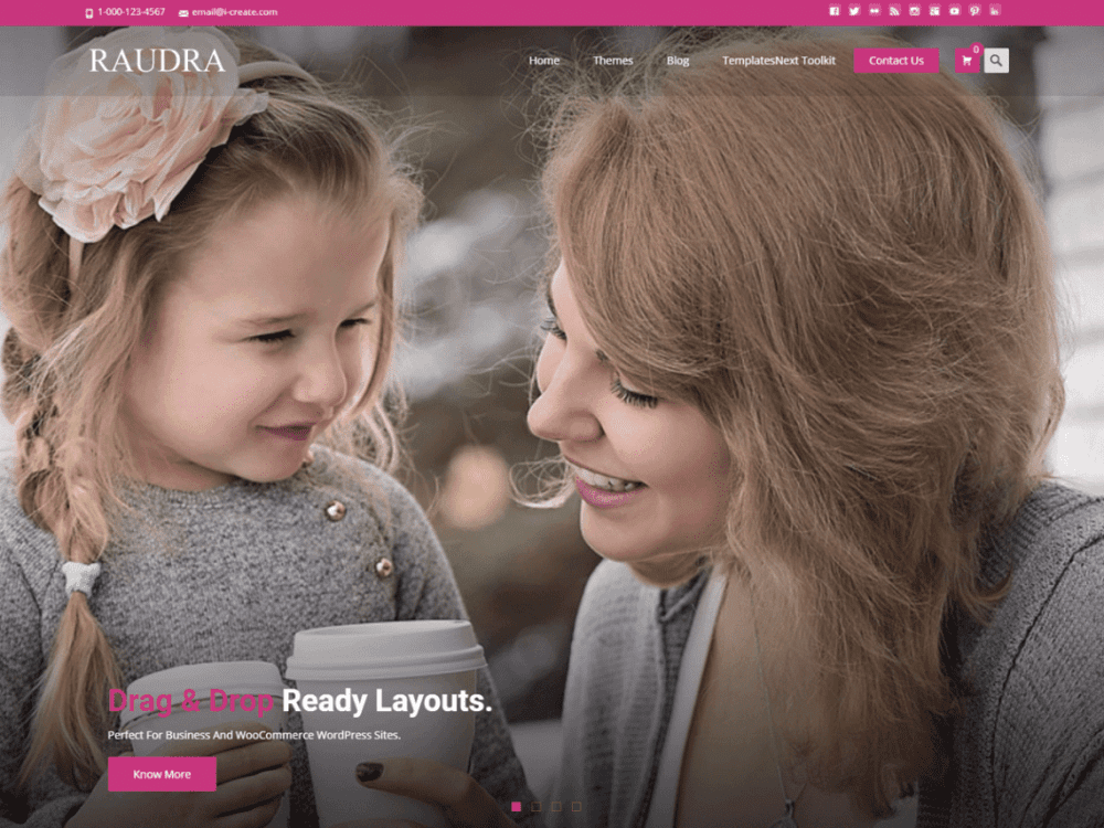 Free Raudra WordPress theme