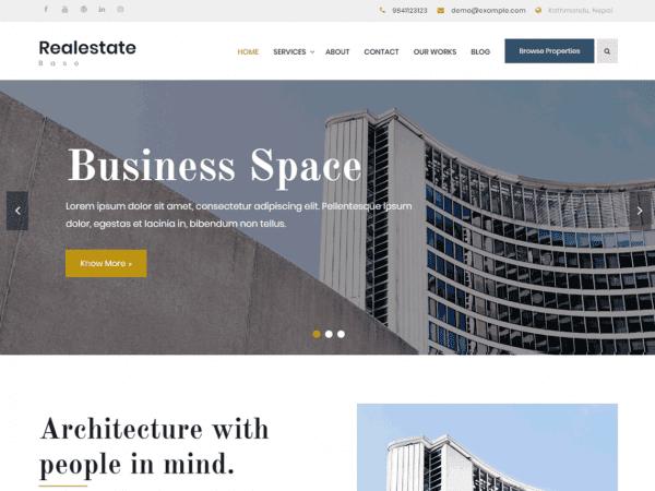Free Realestate Base WordPress theme