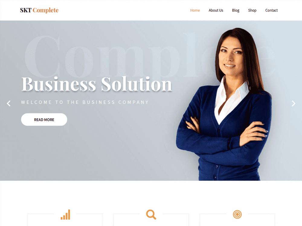 Free SKT Complete WordPress theme