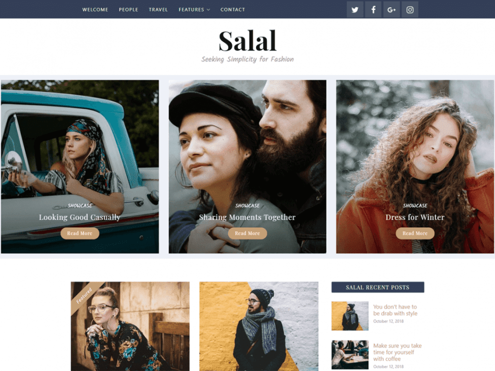 Free Salal WordPress theme