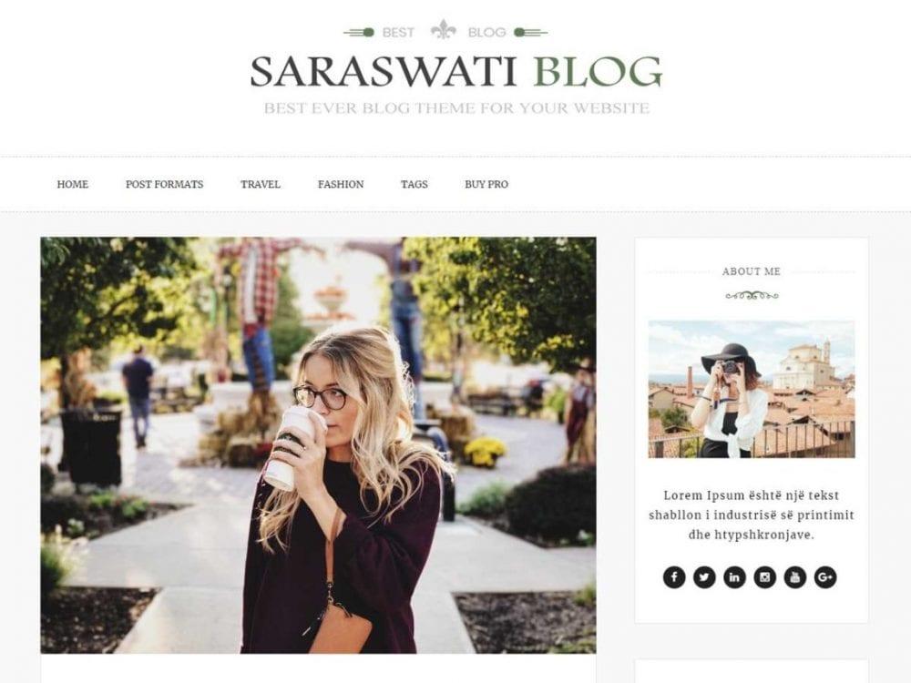 Free Saraswati Blog WordPress theme