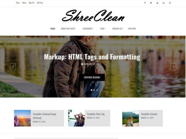 Free Shree Clean WordPress theme
