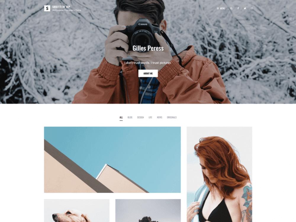 Free Shutter Up WordPress theme