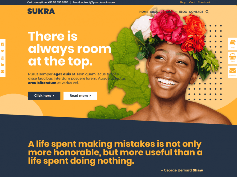 Free Sukra WordPress theme