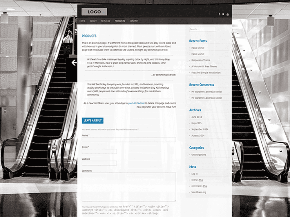 Free Topcat Lite WordPress theme