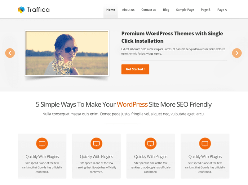 Free Traffica WordPress theme